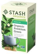 Stash Tea, Organic Premium Green Tea, 18 Count Box of Tea Bags Individually Wrapped in Foil (Pack of 6), Medium Caffiene Tea, Japanese Style Green Tea, Hot or Iced