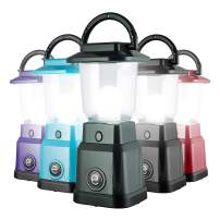 Enbrighten LED Mini Camping Lantern, Battery Powered, 200 Lumens, 40 Hour Runtime, 3 Light Levels, Ideal for Hiking, Outdoors, Emergency, Snow, Hurricane and Storm, Green, 49560