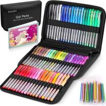 Gel Pens for Adult Coloring Books, 122 Pack Artist Colored Gel Marker Pens Set with 40% More Ink for Kids Art Supplies Drawing Note Taking Crafts Scrapbooks Bullet Journaling Doodling
