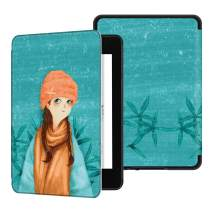 Ayotu Water-Safe Case for Kindle Paperwhite 2018 - PU Leather Smart Cover with Auto Wake/Sleep-Fits Amazon The Latest Kindle Paperwhite Leather Cover (10th Generation-2018),K10 Winter Girl