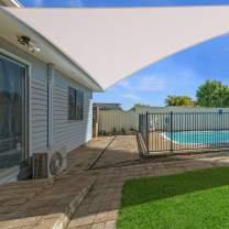 SUNLAX Triangle Sun Sail Shade, 16.5'x16.5'X16.5' Sand Triangular Shadesail UV Block for Outdoor Patio Backyard Shades Cover Canopy