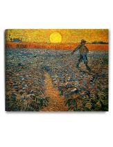 DECORARTS - The Sower, Vincent Van Gogh Art Reproduction. Giclee Canvas Prints Wall Art for Home Decor 30x24