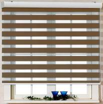 Foiresoft Custom Cut to Size, [Winsharp Basic, Caramel, W 75 x H 55 inch] Zebra Roller Blinds, Dual Layer Shades, Sheer or Privacy Light Control, Day and Night Window Drapes, 20 to 110 inch Wide