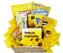 Get Well Soon   Yellow Themed Sunshine Basket   Empathy Gift   Relax and Unwind