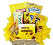 Get Well Soon | Yellow Themed Sunshine Basket | Empathy Gift | Relax and Unwind