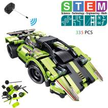 STEM Building Toys for Boys and Girls Remote Control Racer Building Blocks Toy Sportscar Engineering Kit 2-in-1 Race Car and Off-Road Car Best Gift for Boys and Girls 6 7 8 9 10+ Year Old