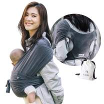 Konny Baby Carrier | Ultra-Lightweight, Hassle-Free Baby Wrap Sling | Newborns, Infants to 44 lbs Toddlers | Soft and Breathable Fabric | Sensible Sleep Solution (Charcoal, 2XL)