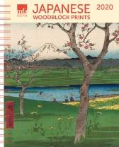 "MFA Japanese Woodblocks Weekly Engagement Calendar 2020 Planner 6.5"" x 8.5"" Spiral"