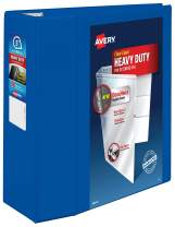 "Avery Heavy Duty View 3 Ring Binder, 5"" One Touch EZD Ring, Holds 8.5"" x 11"" Paper, 1 Pacific Blue Binder (79817)"