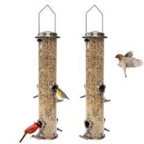 Fakiya Bird Feeder Hanging Bird Feeder Hummingbird Feeders for Outdoors Flower Metal Bird Feeders (2pcs)