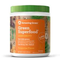 Amazing Grass Green Superfood Immunity: Super Greens Powder with Vitamin C, Cordyceps & Reishi Mushrooms, Tangerine, 30 Servings