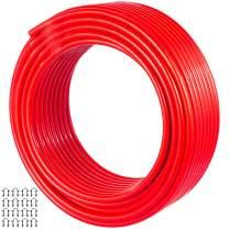 Happybuy PEX AL PEX Tubing 82ft Length, PEX Tube Red Color, Barrier PEX -10 to 90℃ Aluminum PEX Tubing Radiant Floor Heating tube 1.0MPa Pressure PEX Roll 12mm ID 16mm OD PEX Radiant Floor Plumb Pipe