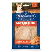 Barkworthies All Natural Superfood Dog Treats - Chicken & Turkey Jerky Dog Treats - Choose from Four Different Flavors - Perfect Reward Snack or Training Treat - 4oz. Bag