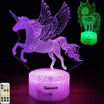 Senros Unicorn Gifts Night Light Toys for Girls,Unicorn Lamp with Timer,7 Color Changing,Remote&Touch Control,Birthday Gifts for Girls Unicorn Night Light,Multicolor