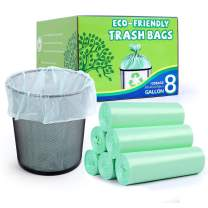 Medium Trash Bags 8 Gallon, Strong Garbage Bags 30 Liter Wastebasket Bin Liners,Kitchen Plastic Bags for Kitchen Trash Can & Cleaning Supplies & Bathroom Tidiness (120 Count )