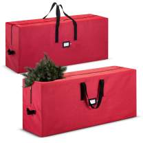 2-Pack, Large Christmas Tree Storage Bag - Fits Up to 9 ft. Tall Artificial Disassembled Trees, Durable Handles & Sleek Dual Zipper - Holiday Xmas Duffle Bag, 420D Oxford Fabric