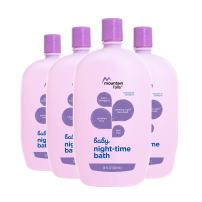 Mountain Falls Hypoallergenic Tear-Free Baby Night-Time Bath, 28 Fluid Ounce (Pack of 4)