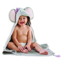 Baby Aspen Splish Splash Elephant Bath Hooded Spa Towel, Gray
