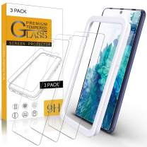 Arae Screen Protector for Samsung Galaxy S20 FE 5G, HD Tempered Glass Anti Scratch Work with Most Case, 6.5 inch, 3 Pack