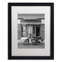 Mercadito Oficios by Moises Levy in White Matte and Black Framed Artwork, 16 by 20""