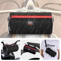 Motorcycle Handlebar Bag with Shoulder Strap Dirt Bike Bag Storage Motorcycle Barrel Bag Mini Dirt Bike Pouch Saddle Bag Tear Resistant Water Resistant Ruckus Storage Bag