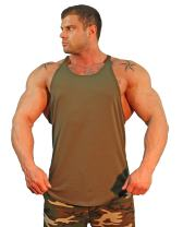 Physique Bodyware Mens Y Back Stringer Tank Top. Made in America