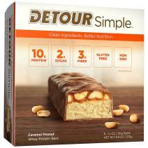Detour Simple Whey Protein Bar, Caramel Peanut, 1.1 Ounce, 9 Count