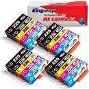 Kingway Compatible Ink Cartridge Replacement for PGI-225 CLI-226 PIXMA MG5320 MG5220 MX882 IX6520 IP4920 IP4820 MG5120 MG5210 Printer 20 Pack(4 PGBlack,4 Black,4 Cyan,4 Magenta,4 Yellow, without Grey)