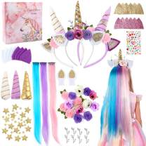 Tacobear Arts and Crafts for Kids DIY Headbands for Girls Fashion Headbands Kids Art Craft Kit Hair Accessories Kit Unicorn Crafts Supplies Headband Making Kit Birthday Gifts for Girl 5 6 7 8 Years