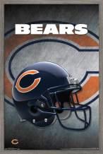 """Trends International NFL Chicago Bears - Helmet 16 Wall Poster, 14.725"""" x 22.375"""", Barnwood Framed Version"""