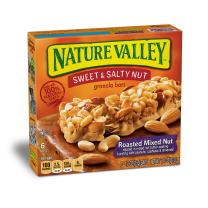Nature Valley Granola Bars, Sweet and Salty Nut, Roasted Mixed Nut, 7.4 Ounce (Pack of 6) - One Pack contains 6 Bars of 1.2 Ounce each