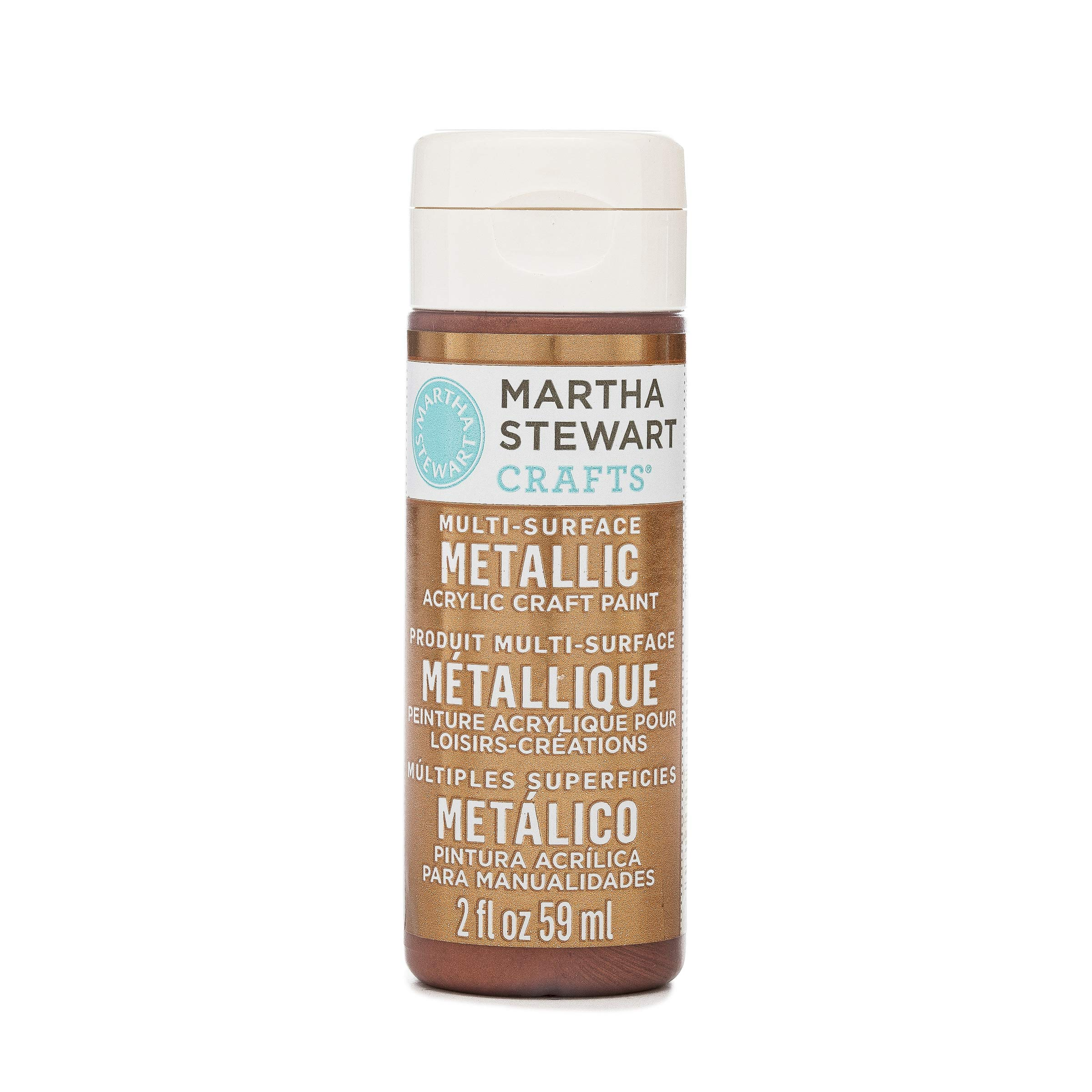 Martha Stewart Crafts Multi Surface Metallic Acrylic Craft Paint In Assorted Colors 2 Ounce 32110 Rust