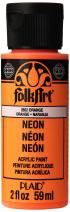 FolkArt Neon Acrylic Paint in Assorted Colors (2 Ounce), 2852 Neon Orange