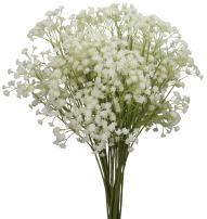 "Duovlo 10pcs Babies Breath Flowers 23.6"" Artificial Gypsophila Bouquets Real Touch Flowers for Wedding Home DIY Decor"