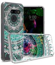 CoverON Hard Slim Fit ClearGuard Series for LG G8 ThinQ Case (2019), Teal Mandala Design