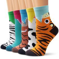 Ambielly Colorful Cute Animal Design Patterned Women's Casual Cotton Socks