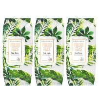 Body Prescriptions Makeup Remover Wipes Bulk Pack of 3, 150 Facial Cleaning Cloths Removes Makeup Mascara Dirt and Oil, Flip Top Pack (Fresh Face Tea Tree)