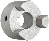"Martin MS099 7/8 Super Series Jaw Coupling, Sintered Steel, Inch, 0.875"" Bore A, 0.875"" Bore B, 2.531"" OD, 1.063"" Length, 512 in-lbs Nominal Torque"