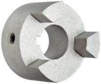 """Martin MS070 5/8 Super Series Jaw Coupling, Sintered Steel, Inch, 0.625"""" Bore A, 0.625"""" Bore B, 1.375"""" OD, 0.75"""" Length, 59.4 in-lbs Nominal Torque"""