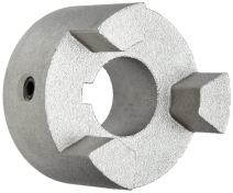 "Martin MS190 2 Super Series Jaw Coupling, Sintered Steel, Inch, 2"" Bore A, 2"" Bore B, 4.5"" OD, 1.938"" Length, 2450 in-lbs Nominal Torque"