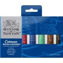 Winsor & Newton Cotman Water Colour Paint, Set of 6, 8ml Tubes
