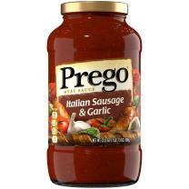 Prego Pasta Sauce, Sausage & Garlic Pasta Sauce, 23.5 oz