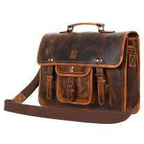 Leather Centric Office Laptop Briefcase Satchel Bag