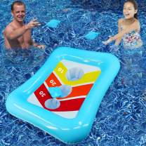 Camlinbo Pool Toys Bean Bag Toss Games Inflatable Floating Cornhole Board Set Toss Toys for Kids Adult Water Games Outdoor Indoor Swimming Pool Toys Summer Beach Pool Party Toys