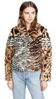 Kendall + Kylie Women's Studio 54 Faux Fur Jacket