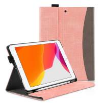 apiker New iPad 7th Generation 10.2 Case 2019 with Pencil Holder- Multiple Viewing Angles/Auto Wake & Sleep Case for iPad 7th Gen 10.2 Inch 2019 Released, Pink