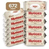 Huggies Nourish & Care Scented Baby Wipes, 12 Flip-Top Packs (672 Wipes Total)