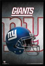 "Trends International NFL New York Giants - Helmet, 22.375"" x 34"", Black Framed Version"