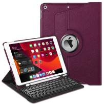 """Fintie Keyboard Case for iPad 7th Generation 10.2"""" 2019-360 Degree Rotating Smart Stand Cover w/Pencil Holder, Built-in Wireless Bluetooth Keyboard for iPad 10.2"""" Tablet, Purple"""
