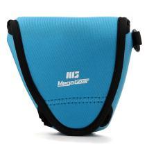 MegaGear Fujifilm X-E3 (23mm & 18-55mm) Ultra Light Neoprene Camera Case, with Carabiner - Blue - MG1335